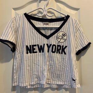NY Yankees crop top